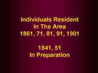 Families - Residents 1841-1901